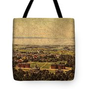 Aerial View Of Berkeley California In 1900 On Worn Distressed Canvas Tote Bag