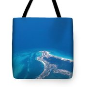 Aerial View Of Cancun Tote Bag