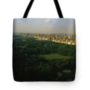 Aerial View Of Central Park, An Oasis Tote Bag