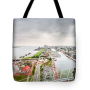 Aerial View Of Famous Havenwelten In Bremerhaven Tote Bag