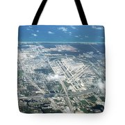 Aerial View Of Fort Lauderdale Airport. Fll Tote Bag