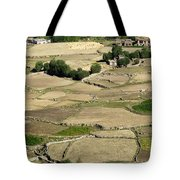 Aerial View Of Green Ladakh Agricultural  Landscape Tote Bag