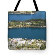 Aerial View Of Queenstown In New Zealand Tote Bag