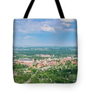Aerial View Of The Beautiful University Of Colorado Boulder Tote Bag