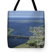 Aerial View Of The Mouth Of Merrimack Tote Bag