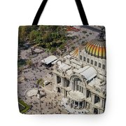 Aerial View Of The Palace Of Fine Arts Tote Bag