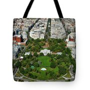 Aerial View Of The White House Tote Bag