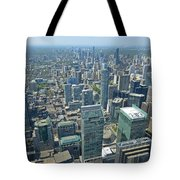 Aerial View Of Toronto Looking North Tote Bag
