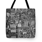 Aerial View Of Union Square Tote Bag