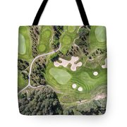 Aerial View Over Golf Field In Poland. Summer Time. Tote Bag