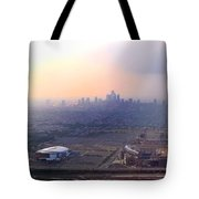 Aerial View - Philadelphia's Stadiums With Cityscape  Tote Bag
