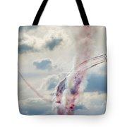 Aerobatic Group Formation  At Blue Sky Tote Bag