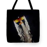 Aerobatics With Firework Tote Bag