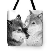 Affection Of Wolves Tote Bag