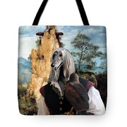Afghan Hound-falconer And Windmill Canvas Fine Art Print Tote Bag