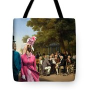 Afghan Hound-politicians In The Tuileries Gardens  Canvas Fine Art Print Tote Bag