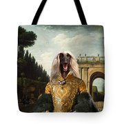 Afghan Hound-the Afternoon Promenade In Rome  Canvas Fine Art Print Tote Bag