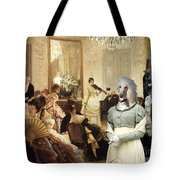 Afghan Hound-the Concert  Canvas Fine Art Print Tote Bag