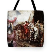 Afghan Hound-the Reverance To The Queen Canvas Fine Art Print Tote Bag