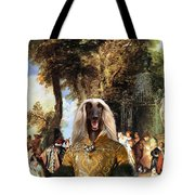 Afghan Hound-the Winch Canvas Fine Art Print Tote Bag