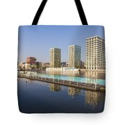 Afloat Swimming Pool Tote Bag