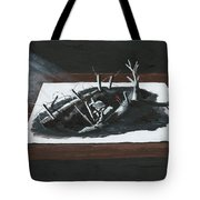 Afraid In The Darkness Tote Bag