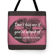 Afraid Of Thunder Tote Bag