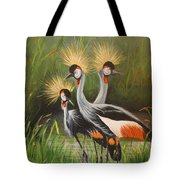 Afrian Crowned Cranes Tote Bag