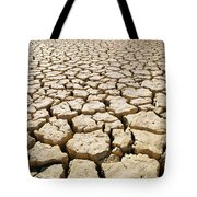 Africa Cracked Mud Tote Bag by Larry Dale Gordon - Printscapes