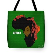 Africa Woman Tote Bag