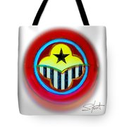 African American Button Tote Bag