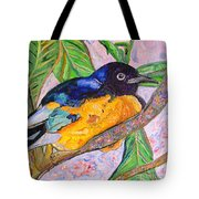 African Blue Eared Starling Tote Bag