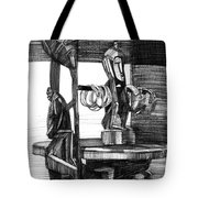 African Carved Statues Tote Bag