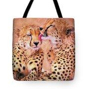 African Cheetah's  Tote Bag
