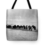 African Elephant Herd Tote Bag