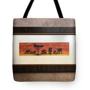 African Elephant Tribal Art Tote Bag