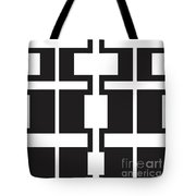 African Figures Abstract Tote Bag