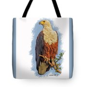 African Fish Eagle Tote Bag by Larry Linton