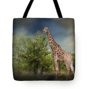 African Giraffe Tote Bag
