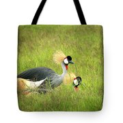 African Gray Crown Crane Tote Bag