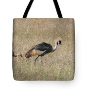 African Grey Crown Crane Tote Bag