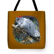 African Grey Parrot A1 Tote Bag