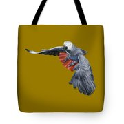 African Grey Parrot Flying Tote Bag