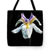 African Iris Raindrops Tote Bag