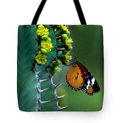 African Monarch On Cactus Tote Bag