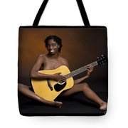 African Nude And Guitar 1184.02 Tote Bag
