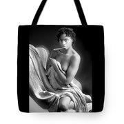 African Nude Kneeling On Chair 1191.01 Tote Bag