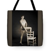 African Nude With Chair 1189.01 Tote Bag