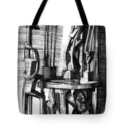 African Statues Tote Bag