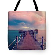 African Sunrise Cotton Candy Skies Tote Bag